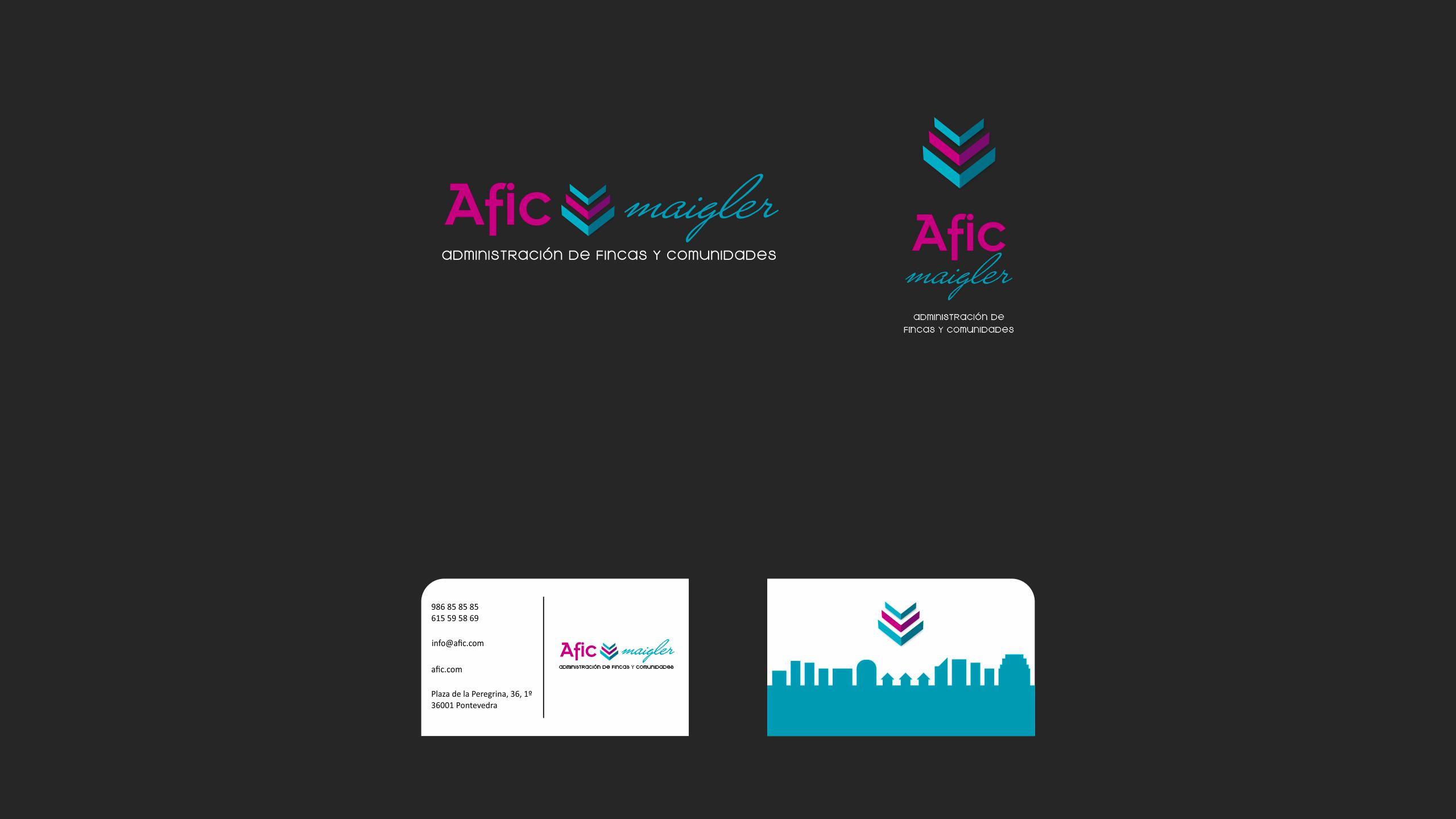 Diseño Afic Maigler logotipo y tarjeta