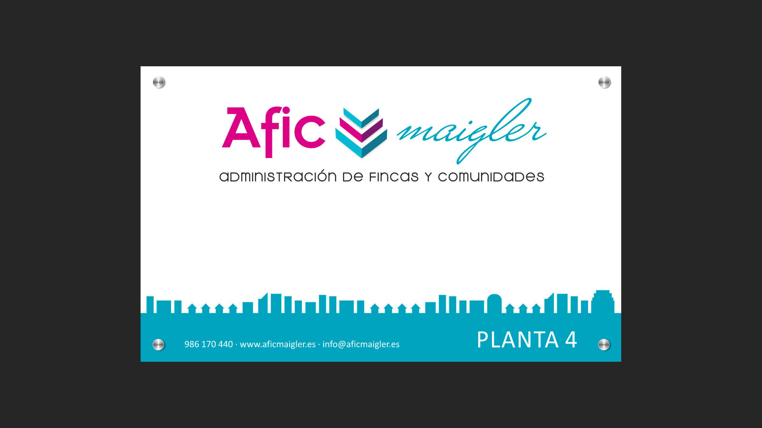 Diseño Afic Maigler placa
