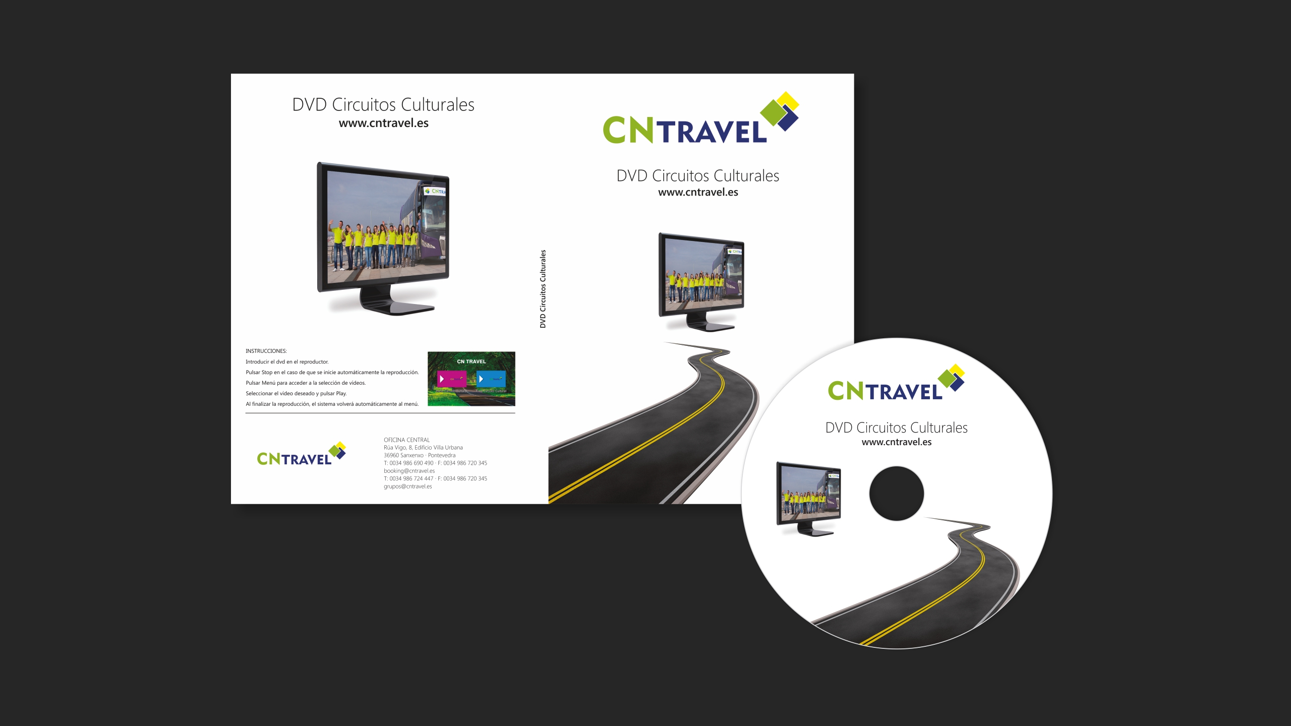Diseño CN Travel dvd