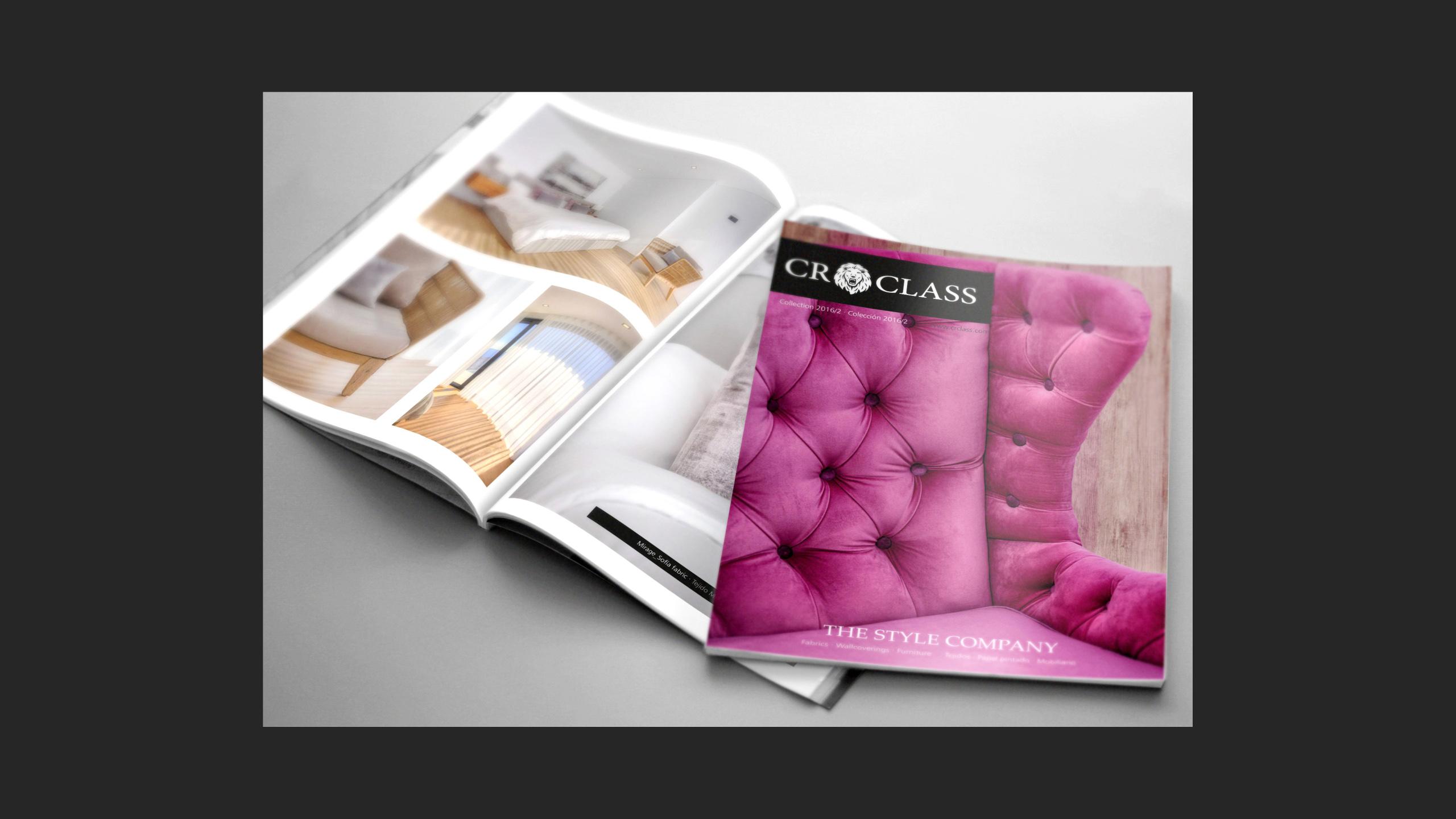 Diseño CR Class Revista impresa promocional 1