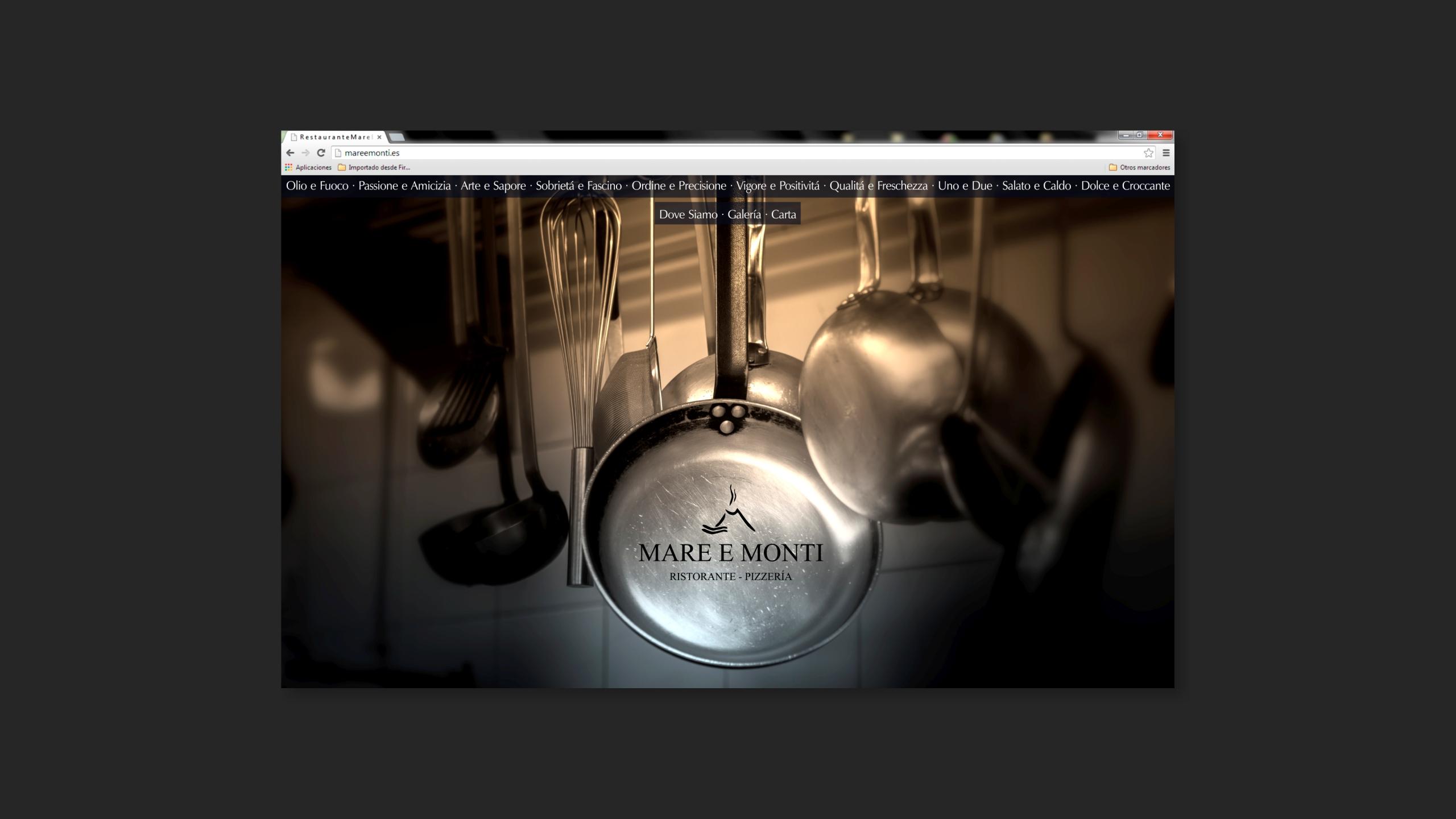 Diseño Mare e Monti diagramacion site 1