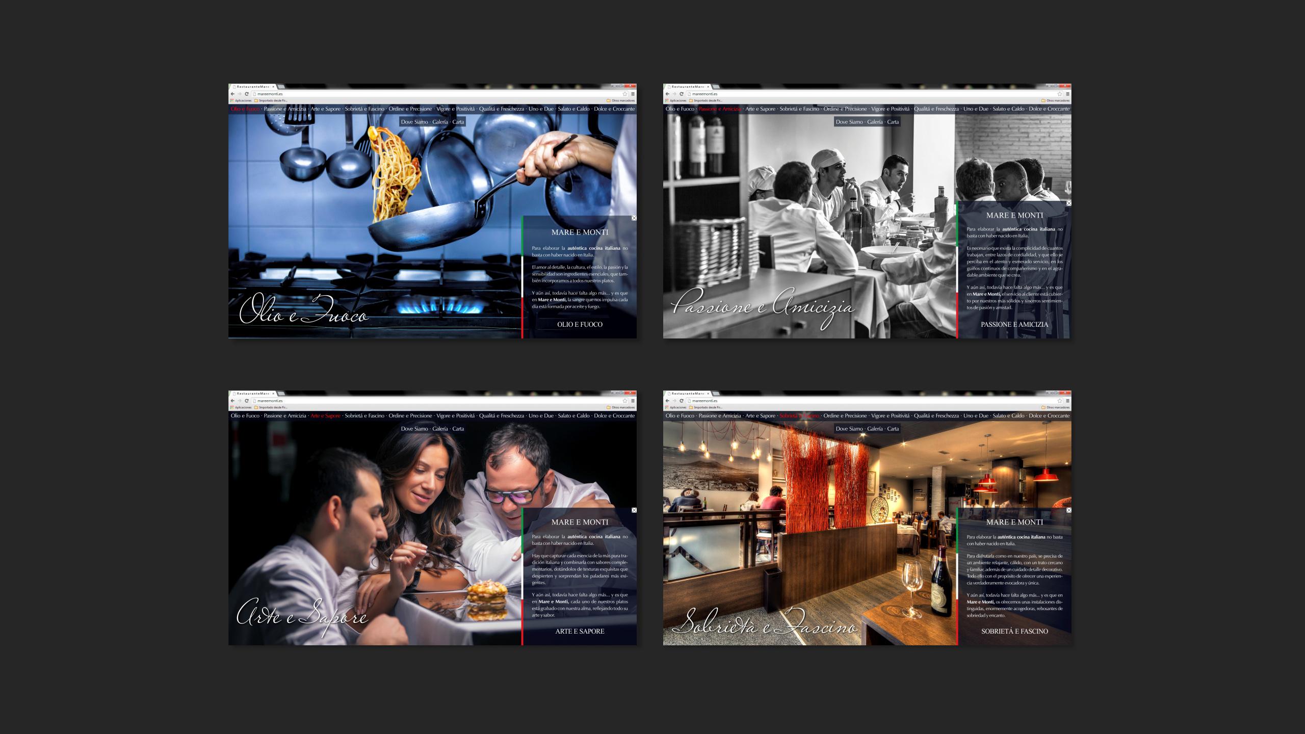Diseño Mare e Monti diagramacion site 2