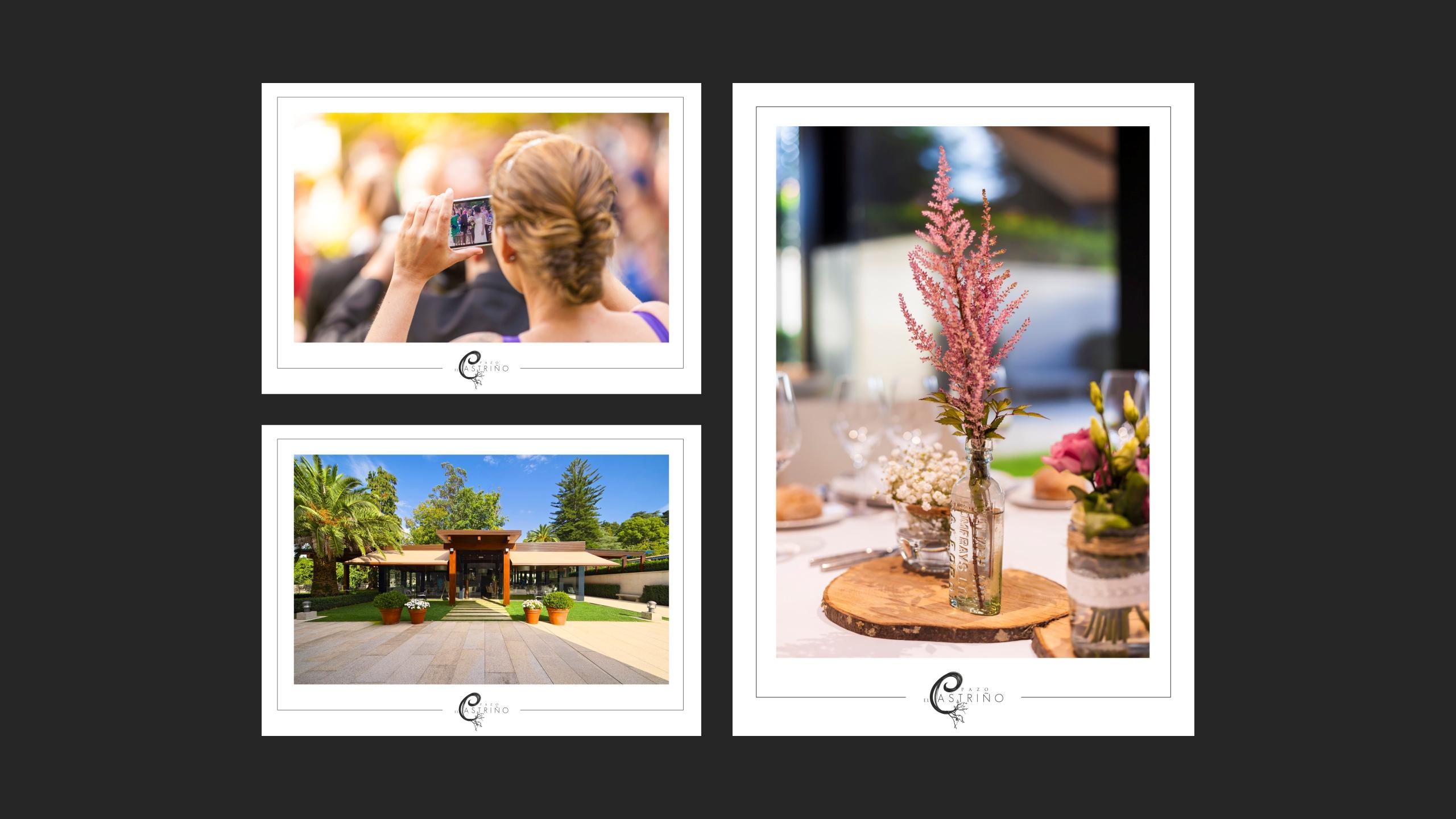 Diseño Pazo O Castriño propuesta diseño postales promocionales 2