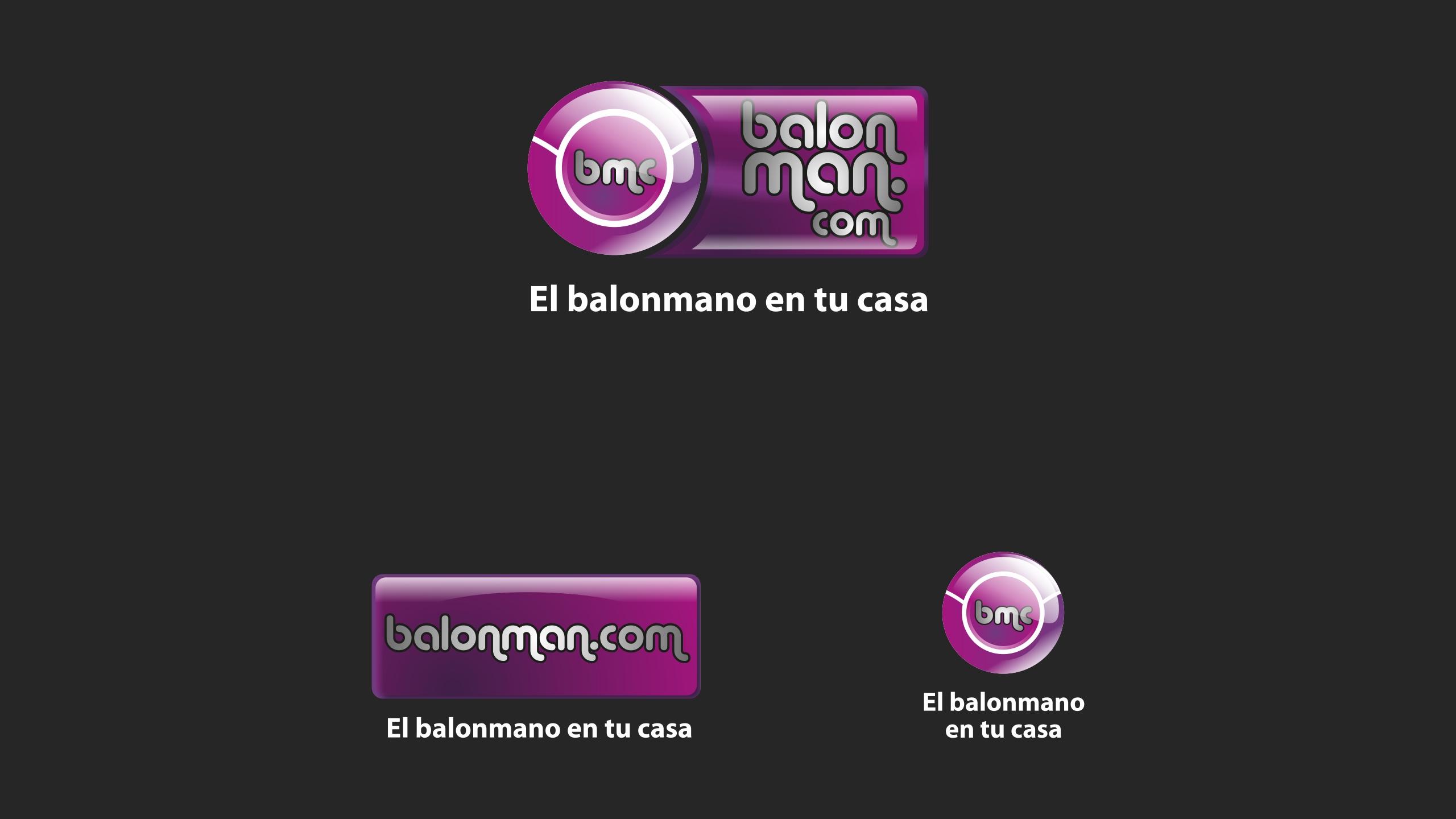 Diseño balonman punto com diseño logotipo