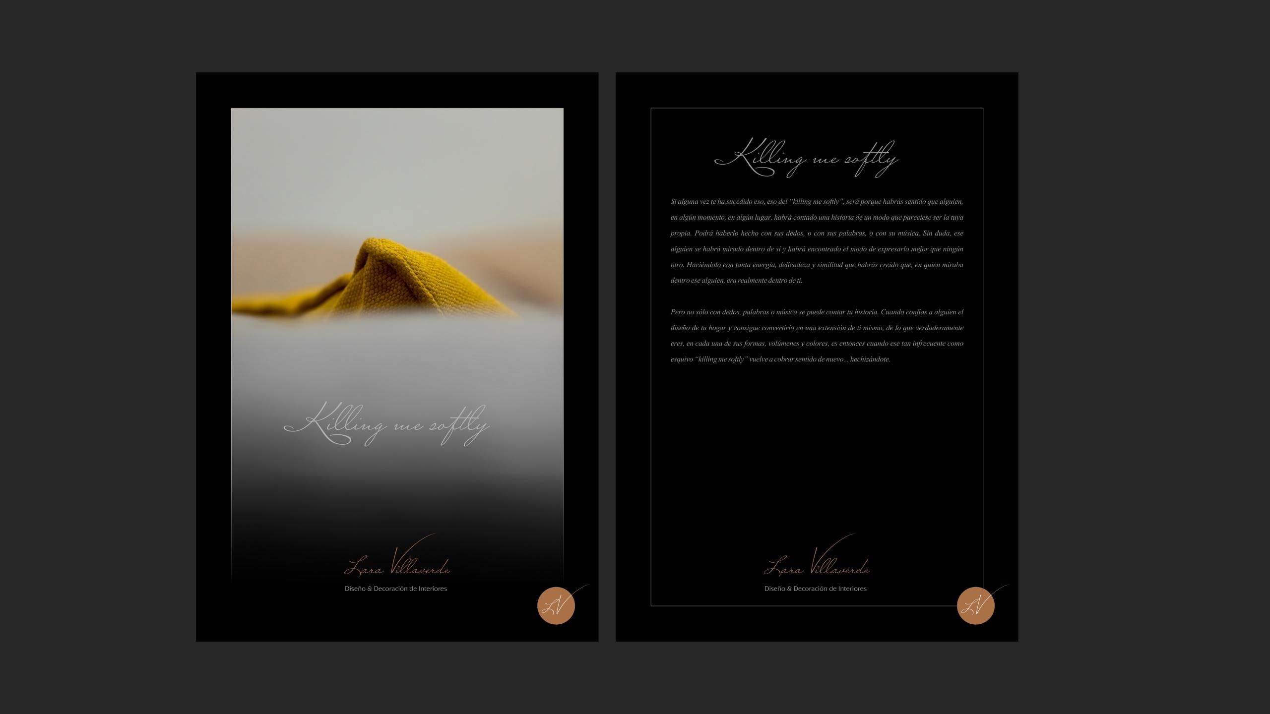 Diseño catalogo promocional Lara Villaverde 1