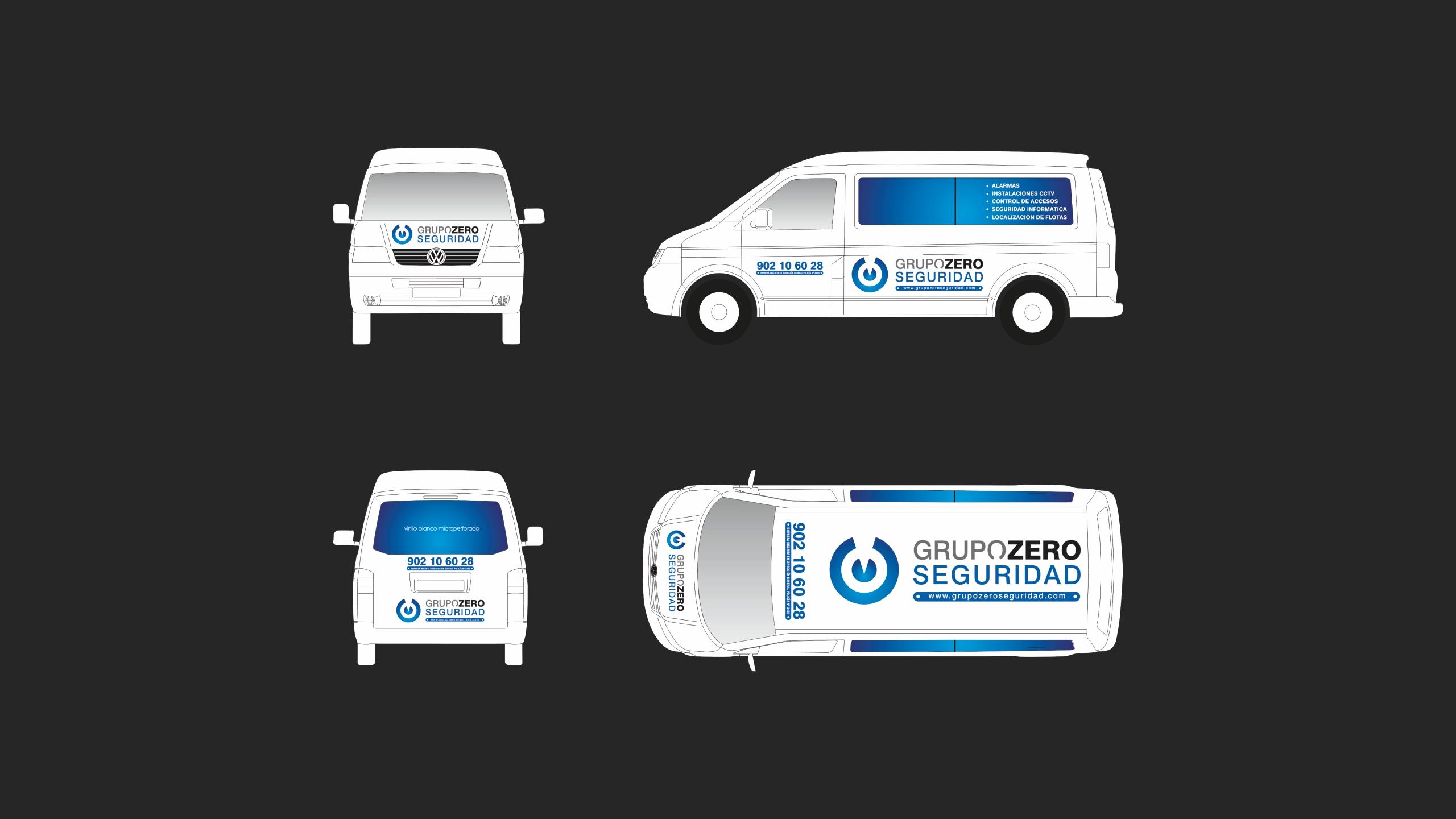 Diseño grupo zero diseño rotulacion flota vehiculos