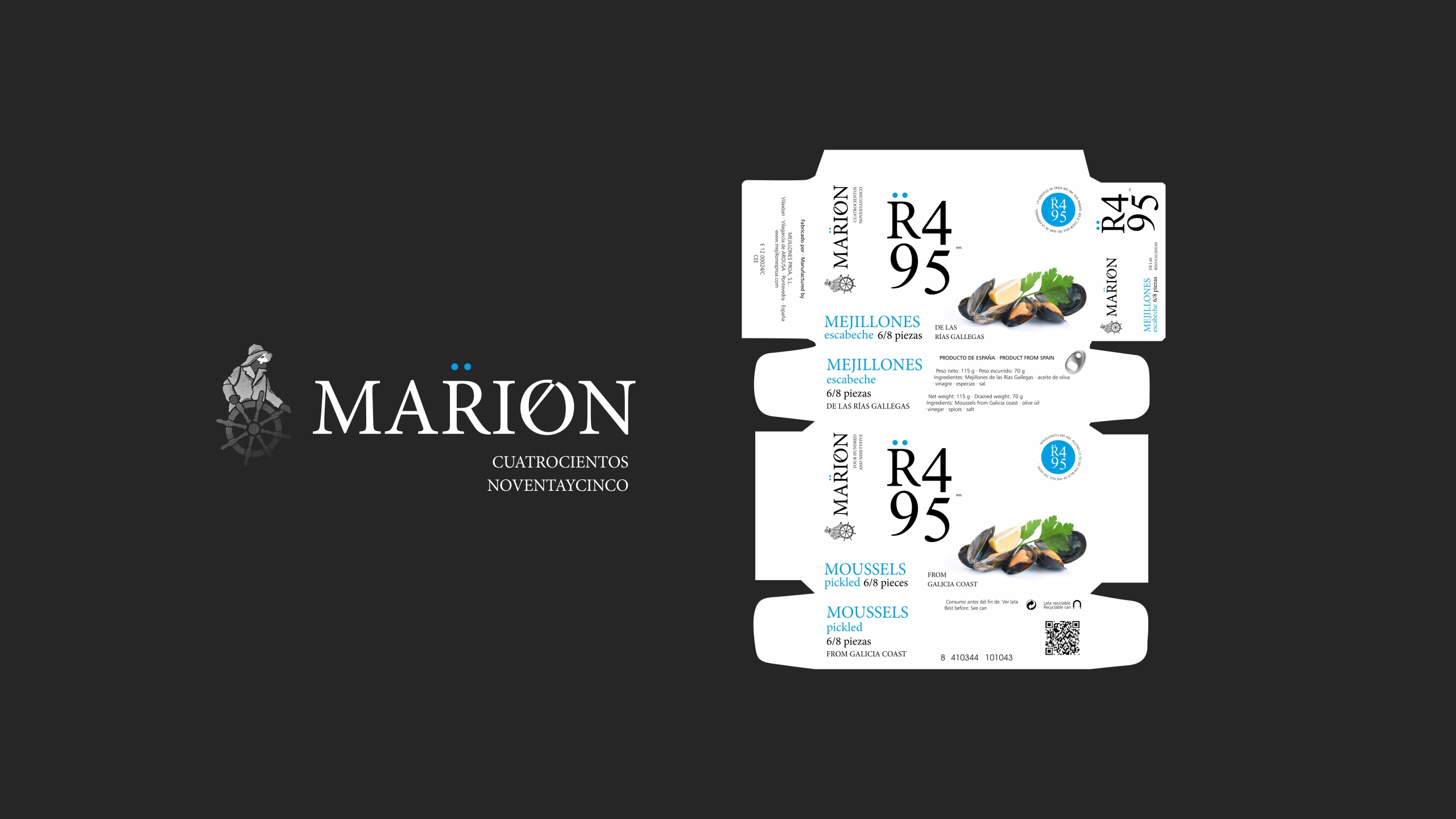 Diseño logotipo marion y packaging