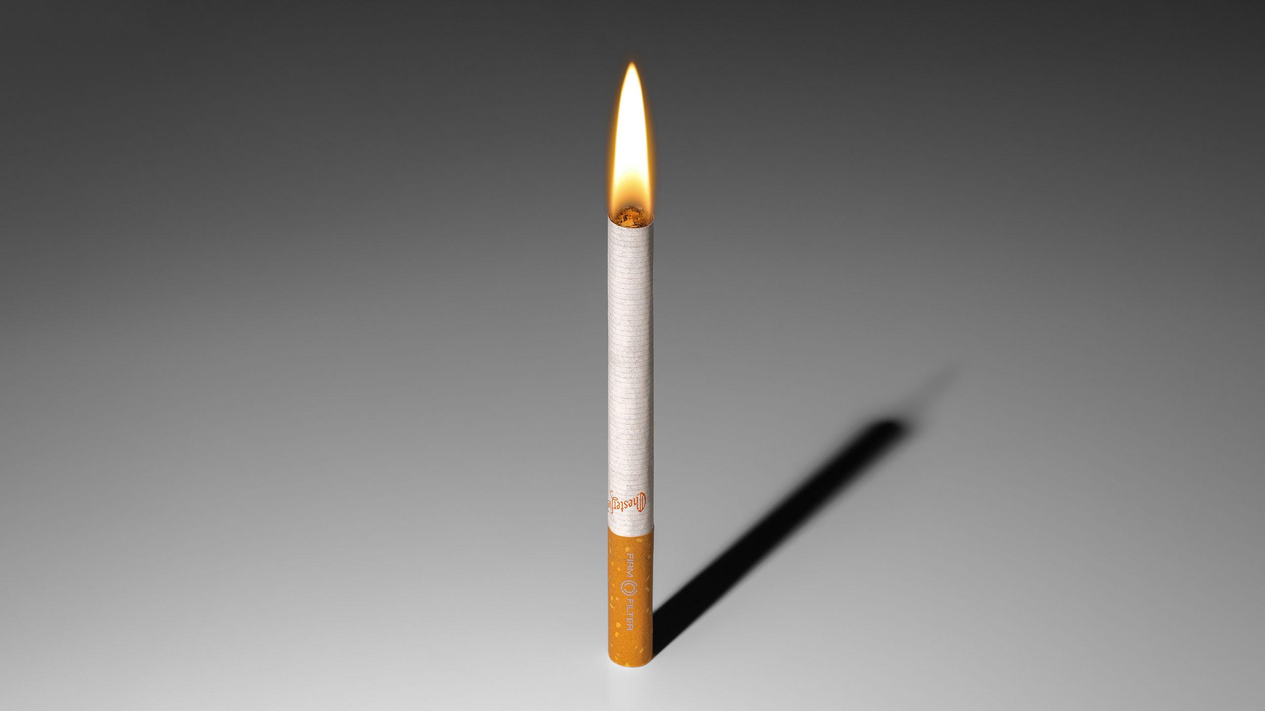 cigarrillo en llamas